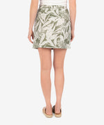 Drawcord Skirt (Tropical Print) Hover Image