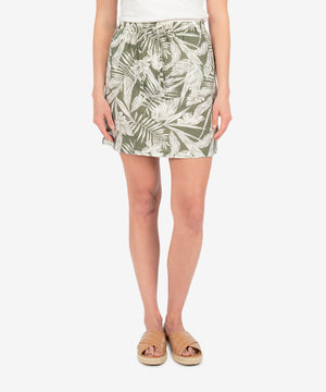 Drawcord Skirt (Tropical Print)