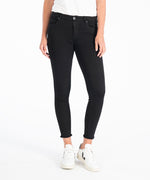 Connie Slim Fit Ankle Skinny With Fray Hem, Exclusive (Black) Main Image