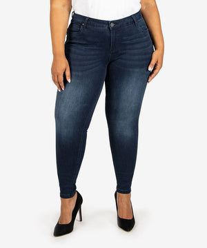 Mia Slim Fit Skinny, Plus (Paragon Wash)-New-10W-Paragon W/Dk Stone Base Wash-Kut from the Kloth