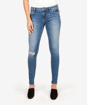 Mia Slim Fit Skinny (Lighten Wash)-Kut from the Kloth