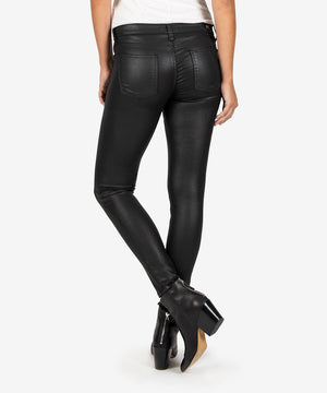 Mia Slim Fit Vegan Leather Skinny (Black)-New-Kut from the Kloth