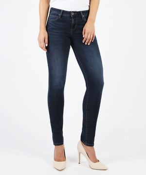 Diana Kurvy Relaxed Fit Skinny (Likable Wash)-Fit-0-Likable W/Dk Stone Base Wash-Kut from the Kloth