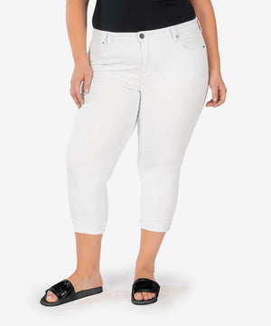 Amy Crop Straight Leg, Plus (White)-New-Kut from the Kloth