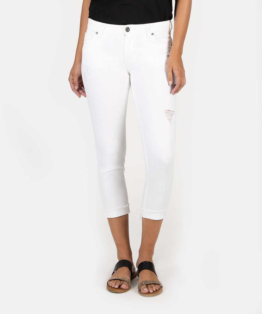 Amy Crop Straight Leg (White Wash)