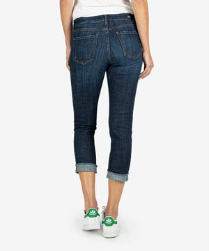 Amy Crop Straight Leg (Acknowledging Wash)-Denim-Kut from the Kloth