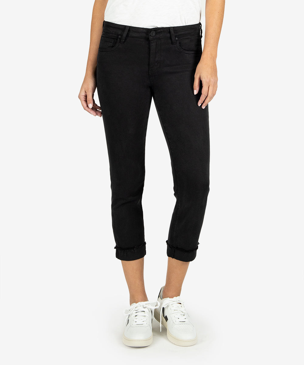 Amy Crop Straight Leg (Black)