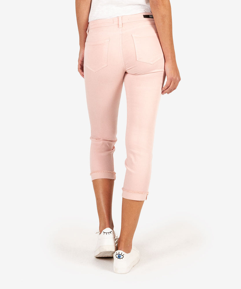 Amy Crop Straight Leg With Fray Hem (Blush)-Kut from the Kloth