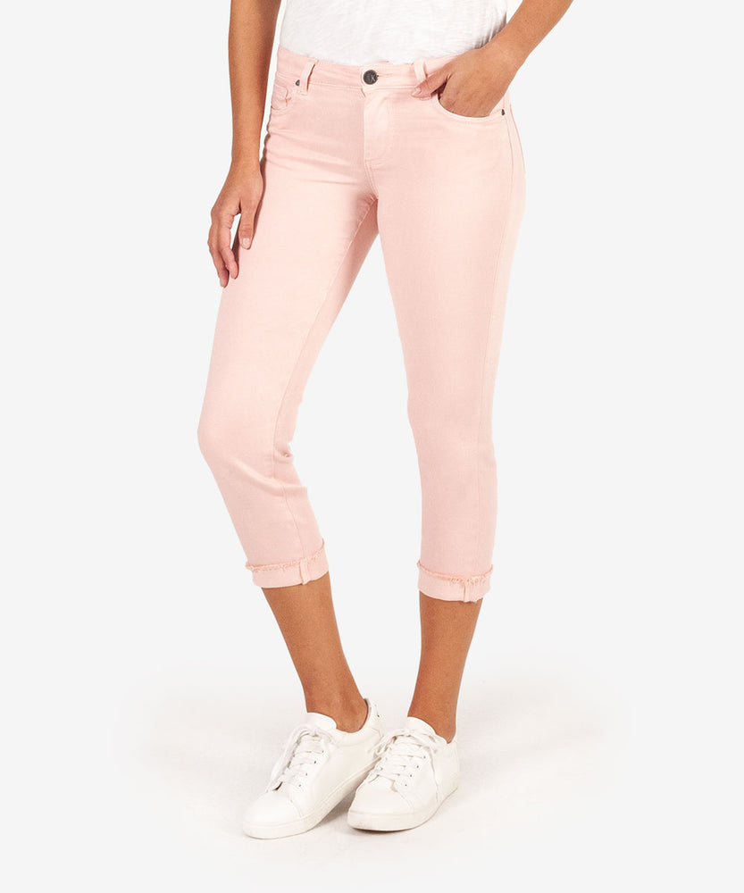 Amy Crop Straight Leg With Fray Hem (Blush)