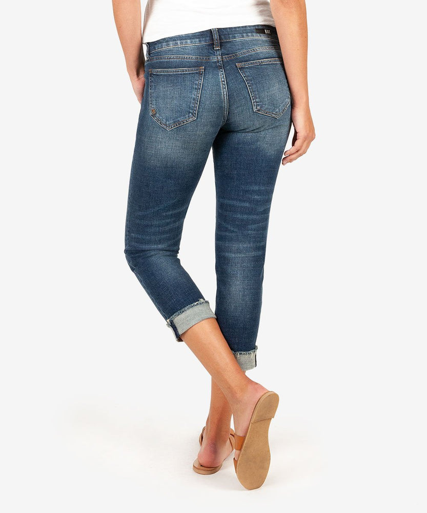 Amy Crop Straight Crop Straight Leg (Kiss Wash)-Kut from the Kloth