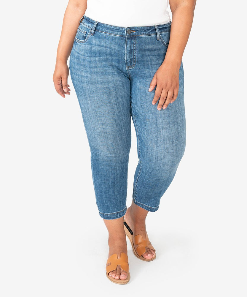 Lauren Crop Straight Leg, Plus (Started Wash)