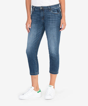 Lauren Crop Straight Leg (Vibes Wash)-New-00-Vibes W/Dk Stone Base Wash-Kut from the Kloth