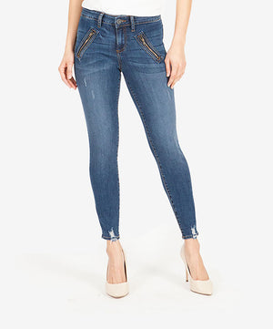 Connie Slim Fit Ankle Skinny (Pardon Wash)-Kut from the Kloth
