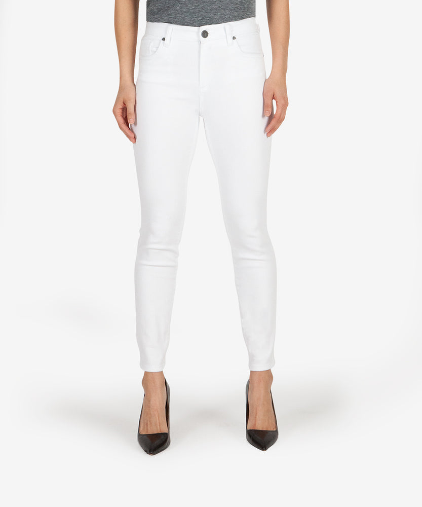 Donna High Rise Ankle Skinny (White)