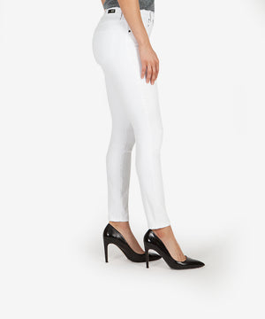 Donna High Rise Ankle Skinny (White)-Kut from the Kloth
