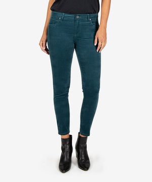 Donna Ankle Corduroy Skinny (Teal)-New-Kut from the Kloth