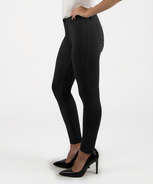 Donna Ponte Ankle Skinny Leg (Black/Grey)-Kut From the Kloth Denim