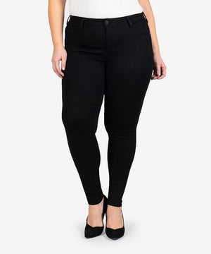 Mia High Rise Slim Fit Skinny, Plus (Black)-New-Kut from the Kloth