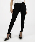 Mia High Waist Slim Fit Skinny, Petite (Black) Main Image