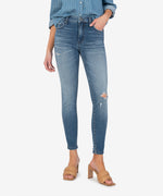 Connie High Rise Fab Ab Slim Fit Ankle Skinny (Manner Wash) Main Image