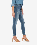 Connie High Rise Fab Ab Slim Fit Ankle Skinny (Manner Wash) Hover Image