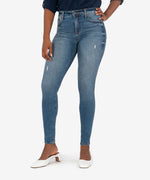 Mia High Rise Fab Ab Slim Fit Skinny (Eco-Friendly Cumulated Wash) Main Image