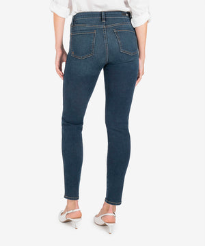 Diana High Rise Fab Ab Relaxed Fit Skinny (Grateful Wash)-New-Kut from the Kloth