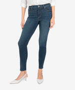 Diana High Rise Fab Ab Relaxed Fit Skinny (Grateful Wash) Main Image