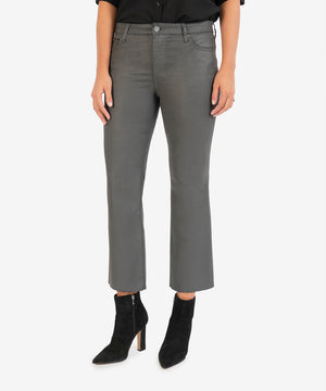 Kelsey High Rise Ankle Flare (Dark Grey)-New-Kut from the Kloth