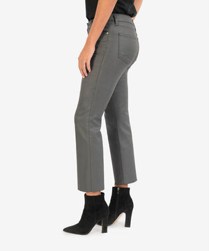 Kelsey High Rise Ankle Flare (Dark Grey)