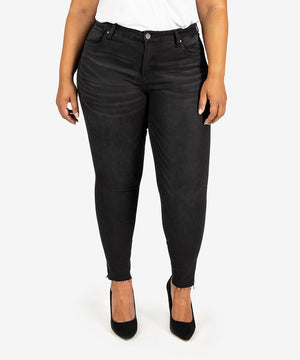 Donna High Rise Ankle Skinny, Plus (Travel Wash)-New-10W-Travel W/Grey Base Wash-Kut from the Kloth