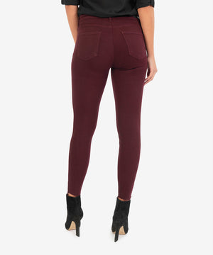 Donna High Rise Ankle Skinny (Deep Wine)-New-Kut from the Kloth