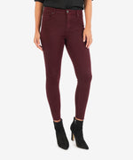 Donna High Rise Ankle Skinny (Deep Wine) Main Image
