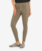 Donna High Rise Ankle Skinny (Olive) Main Image