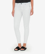 Donna High Rise Ankle Skinny (White) Main Image