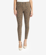 Donna High Rise Ankle Skinny, Petite (Mocha/Black) Main Image
