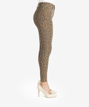Donna High Rise Ankle Skinny, Petite (Mocha/Black)-New-Kut from the Kloth