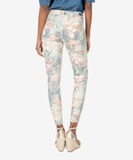 Donna High Rise Ankle Skinny (Tropical Print) Hover Image