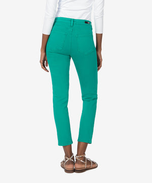 Reese High Rise Ankle Straight Leg (Green)