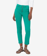 Reese High Rise Ankle Straight Leg (Green) Main Image