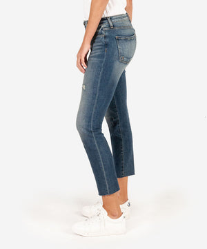 Reese High Rise Ankle Straight Leg (Nifty Wash)
