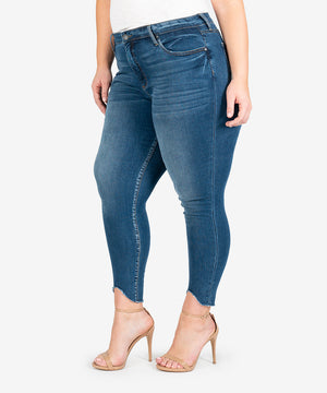 Connie High Rise Ankle Skinny, Plus (Aboard Wash)-New-Kut from the Kloth