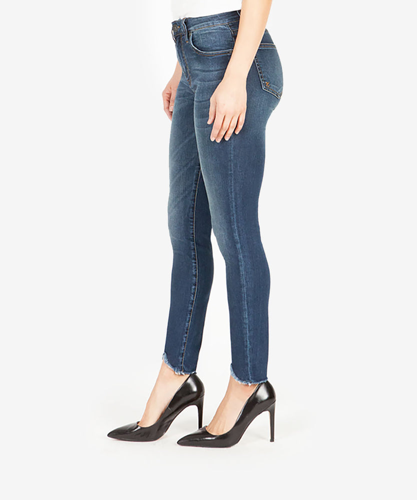 Connie Slim High Rise Ankle Skinny (Behave Wash)