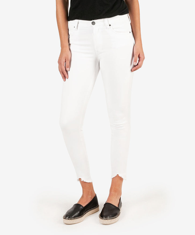Connie High Rise Slim Fit Ankle Skinny (White)-Kut from the Kloth