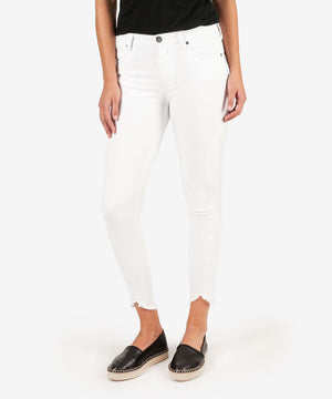 Connie High Rise Slim Fit Ankle Skinny (White)
