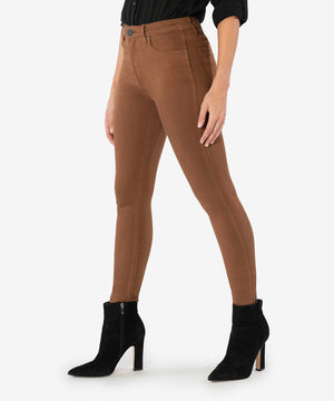 Mia High Rise Fab Ab Slim Fit Skinny (Whiskey)-New-Kut from the Kloth