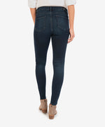Mia High Rise Fab Ab Slim Fit Skinny (Flight Wash) Hover Image