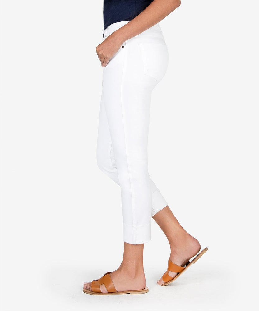 Catherine Boyfriend With Raw Hem (White)-Kut from the Kloth