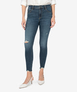 Donna High Rise Fab Ab Ankle Skinny (Heath Wash) Main Image