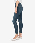 Donna High Rise Fab Ab Ankle Skinny (Heath Wash) Hover Image